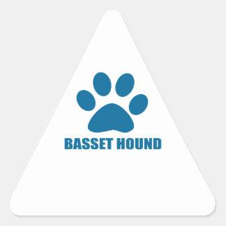 BASSET HOUND DOG DESIGNS TRIANGLE STICKER