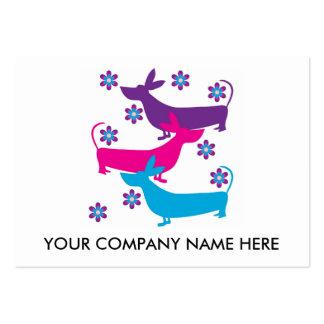Basset Hound dog funky fun retro business card