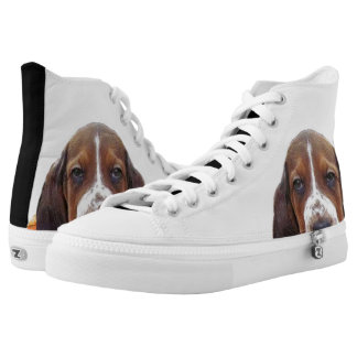 Basset Hound dog High-Top Sneakers