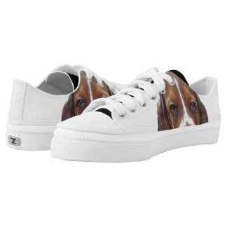 Basset Hound dog Low-Top Sneakers