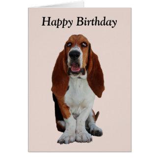 Basset Hound dog photo happy birthday card