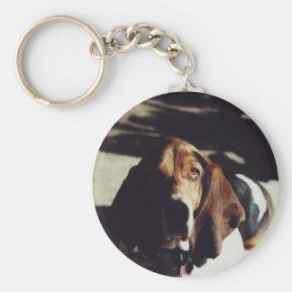 """Basset Hound"" Dog Photo Key Chain"