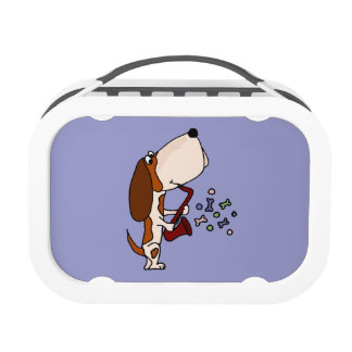 Basset Hound Dog Playing Saxophone Replacement Plate