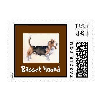 Basset Hound Dog Postage Stamp for letters