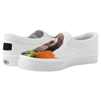 Basset Hound dog Slip-On Sneakers