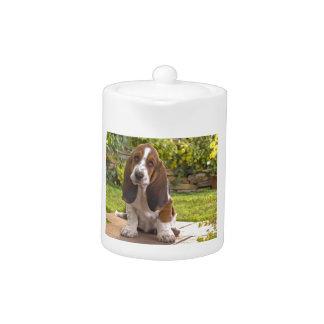 Basset Hound Dog Teapot
