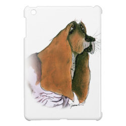 Case Savvy iPad Mini Glossy Finish Case with Basset Hound Phone Cases design