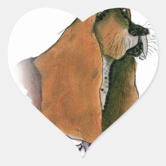 Basset Hound Dog, tony fernandes Heart Sticker