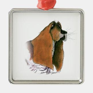 Basset Hound Dog, tony fernandes Metal Ornament