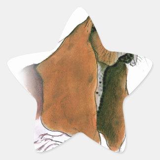 Basset Hound Dog, tony fernandes Star Sticker