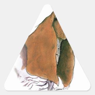 Basset Hound Dog, tony fernandes Triangle Sticker