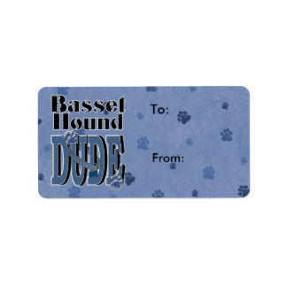 Basset Hound DUDE Label