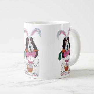Basset Hound Easter Bunny Extra Large Mug