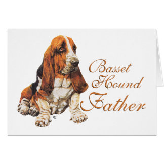 Basset Hound Father's Day Card