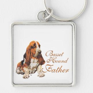 Basset Hound Father's Day Keychain
