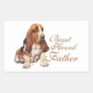 Basset Hound Father's Day Rectangular Sticker