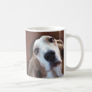 Basset Hound Fine Art Painting Portrait Coffee Mug