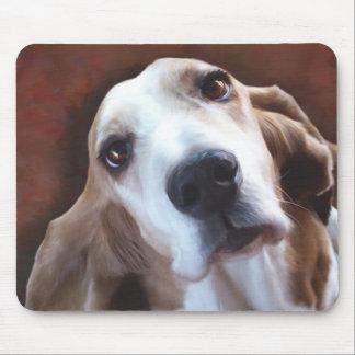 Basset Hound Fine Art Painting Portrait Mouse Pad