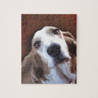 Basset Hound Fine Art Painting Portrait Puzzles