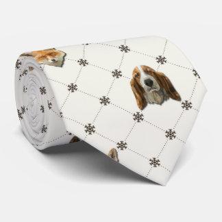 Basset Hound & Fox Tie
