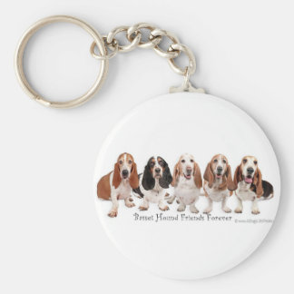 Basset Hound Friends Forever Keychain