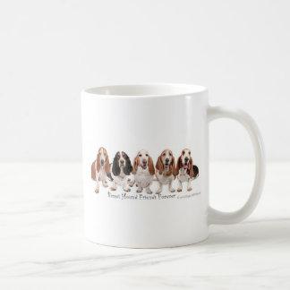 Basset Hound Friends Forever Classic White Coffee Mug