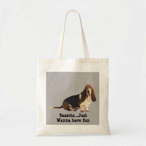 Basset Hound Fun Loving Tote Bag