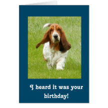 Basset hound cards greeting photo cards zazzle bookmarktalkfo Gallery