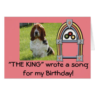 Basset Hound funny birthday card