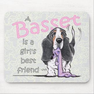 Basset Hound Girls Best Friend Mouse Pad