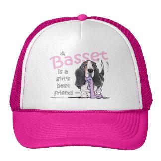 Basset Hound Girls Best Friend Trucker Hat