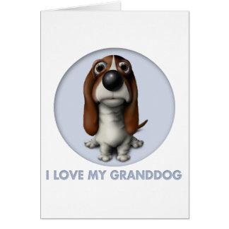 Basset Hound Granddog Card