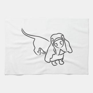 Basset Hound Hand Towel