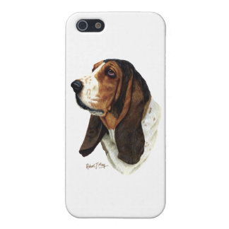 Basset Hound Head 1 Cases For iPhone 5