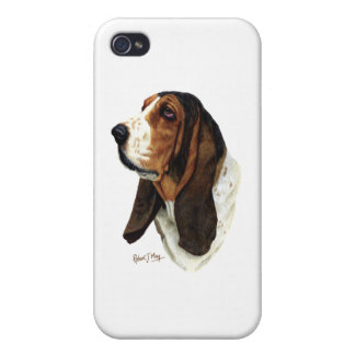 Basset Hound Head 1 iPhone 4/4S Covers