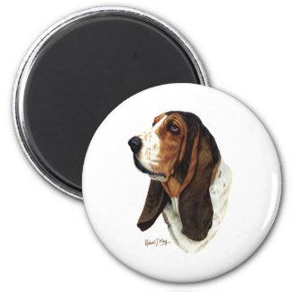 Basset Hound Head 1 Magnet