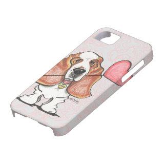 Basset Hound Heart Balloon iPhone 5 Covers