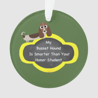 Basset Hound Honor Ornament