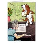 Basset Hound - Howling Birthday Greeting Cards
