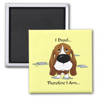 Basset Hound - I Drool...Therefore I Am.. Magnet