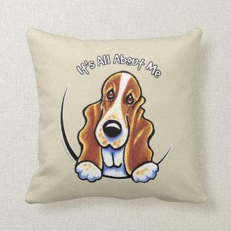 Basset Hound IAAM Throw Pillow