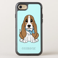 Basset Hound in Blue Bow OtterBox Symmetry iPhone 8/7 Case