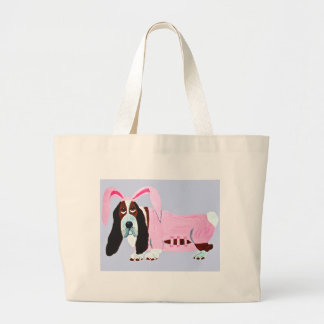 Basset Hound In Pink Bunny Suit Tote Bag