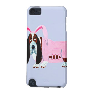 Basset Hound In Pink Bunny Suit iPod Touch (5th Generation) Case