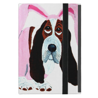 Basset Hound In Pink Bunny Suit iPad Mini Covers