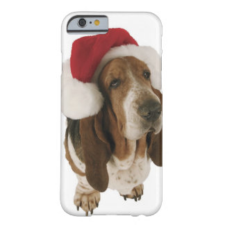 Basset hound in Santa hat Barely There iPhone 6 Case