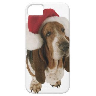 Basset hound in Santa hat iPhone 5 Cases