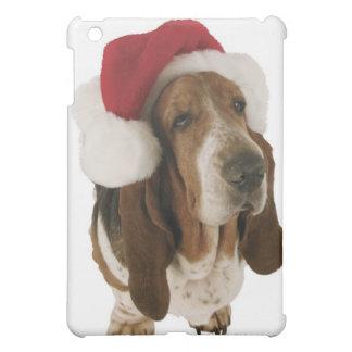 Basset hound in Santa hat iPad Mini Case