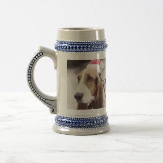 Basset Hound in Santa Hat Mug