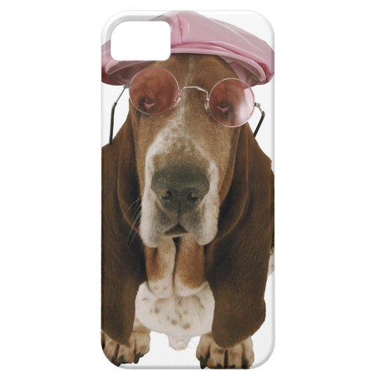 Basset hound in sunglasses and cap iPhone SE/5/5s case